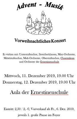 Vorschaubild zur Meldung: Einladung zum vorweihnachtlichen Konzert