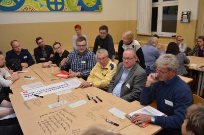 Nach der FNP-Veranstaltung im Oktober zog auch die Leitbild-Diskussionsrunde viele interessierte und engagierte Bürgerinnen und Bürger an.