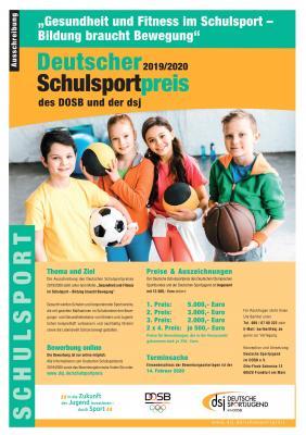 Vorschaubild zur Meldung: Deutscher Schulsportpreis 2019/2020