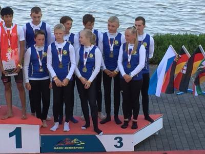 Foto zur Meldung: Edelmetall für Riesaer Rennkanuten bei den Deutschen Meisterschaften