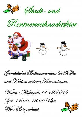 Foto zur Meldung: Stadt- & Rentnerweihnachtsfeier 2019