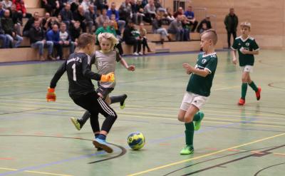 Das Derby zwischen Demmin( grün ) und Völschow ( grau ) gewann Demmin knapp mit 1:0