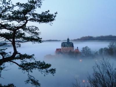 Burg Kriebstein im Nebel