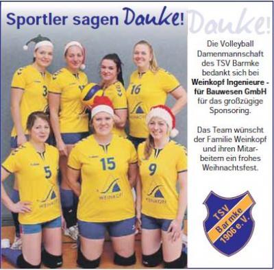Foto zur Meldung: Sponsoring für Volleyball Damen Mannschaft
