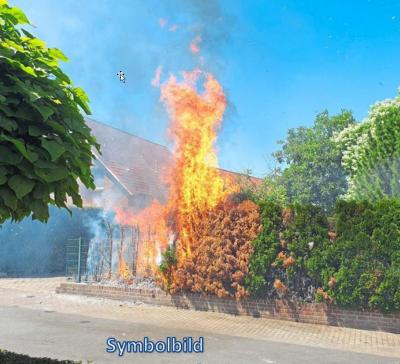 Vorschaubild zur Meldung: Einsatz Nr. 26 - Brennt Hecke in Stellau