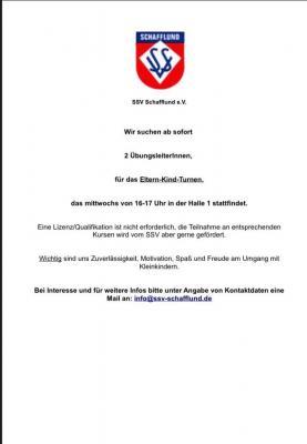 Vorschaubild zur Meldung: SSV Schafflund sucht...