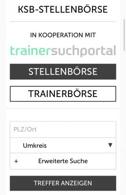 Vorschaubild zur Meldung: Das Trainersuchportal ist jetzt online!