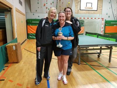 Auf dem Foto die 1. Damen mit den Spielerinnen Heike Kunze, Heike Zellmann und Kirsten Geske.