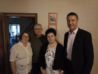 BM Klaus Prietzel, Carola Johannsohn, Rudolf Sobel, Petra Sobel (v.r.n.l.)