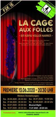 Titel - Flyer - La Cage NTB2020