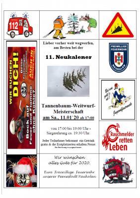 Foto zur Meldung: Tannenbaum - Weitwurf - Meisterschaft 2020