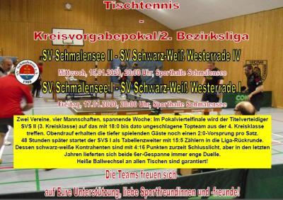 Foto zur Meldung: Schwarz-Weiße Woche beim SV Schmalensee Tischtennis