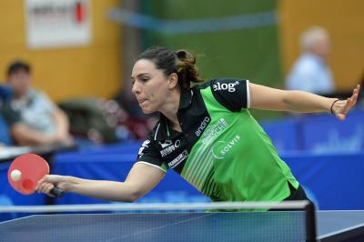 Dijana Holokova, Nummer eins des TTK Großburgwedel, gewann beide Einzel gegen den Sportclub Niestetal