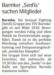 Vorschaubild zur Meldung: TSV Barmke bietet SenFi an