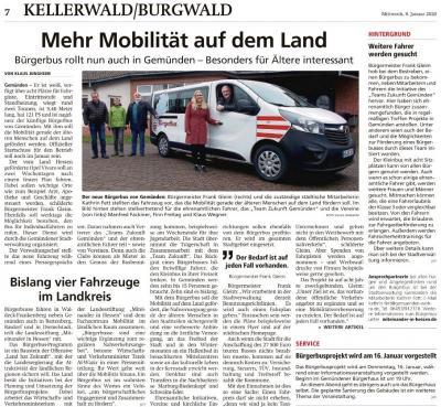 Foto zur Meldung: Der Bürgerbus fährt jetzt auch in Gemünden (Wohra)