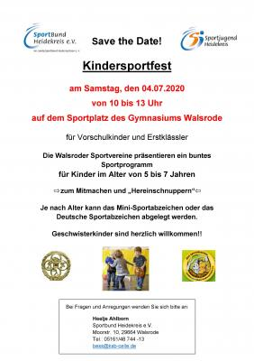 Kindersportfest in Walsrode