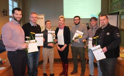 Begrüßung der neuen Mitglieder und der Gemeinde Borrentin