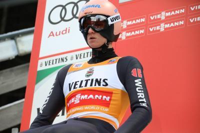 """Mit Rang fünf verteidigte Karl Geiger auch beim Weltcup in Zakopane das """"Gelbe Trikot"""" des Weltcup-Führenden - Foto: Joachim Hahne / johapress"""