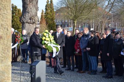 Foto zur Meldung: Der Landkreis Oberspreewald-Lausitz gedachte der Opfer des Holocaust