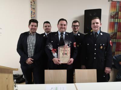 Stefan Zeilmann wurde für 25 Jahre aktiven Feuerwehrdienst geehrt