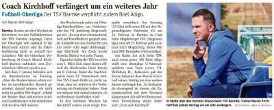 Foto zur Meldung: Marcel Kirchhoff bleibt Trainer der 1. Frauenfussballmannschaft