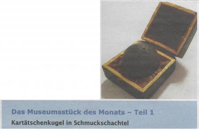 Vorschaubild zur Meldung: Museumsstück des Monats