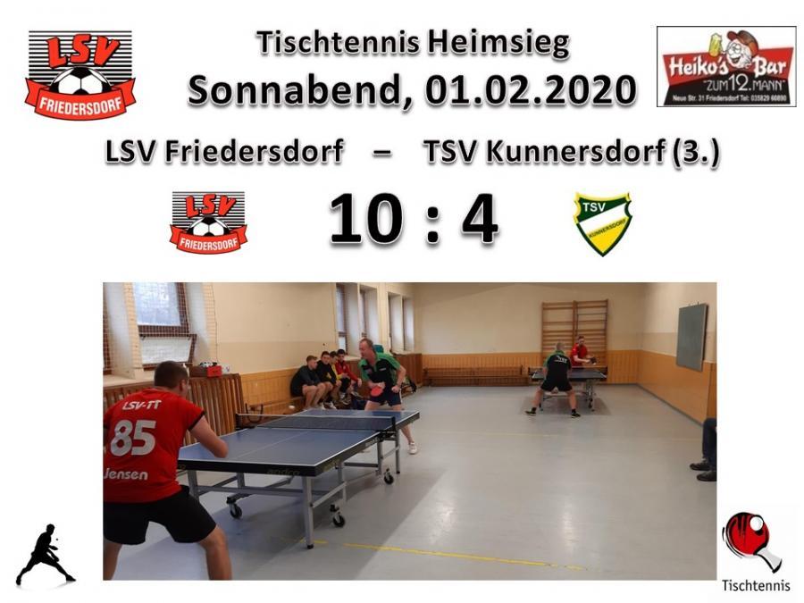 Vorschaubild der Meldung: Tischtennisjungs besiegen den TSV Kunnersdorf mit 10:4