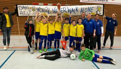 Vorschaubild zur Meldung: Unsere E1-Jugend holt den Futsal-Hallenkreismeistertitel 2019/2020 in Bebra!