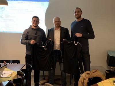 von links nach rechts: Steffen Maibaum (17/18), Andre Lehmkuhl (SR-Obmann), Martin Speck (18/19)