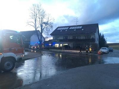 Straße überschwemmt