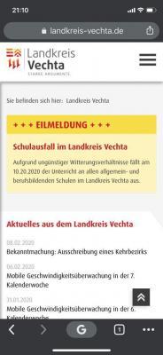 Foto zur Meldung: 2019/2020 Schulausfall im Landkreis Vechta