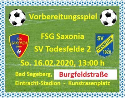 FSG Saxonia - SV Todesfelde II in Bad Segeberg