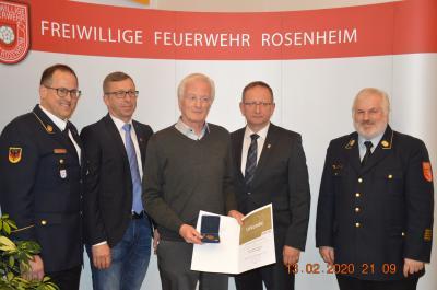 Foto zur Meldung: 160. Jahreshauptversammlung der Freiw. Feuerwehr Stadt Rosenheim Teil 2