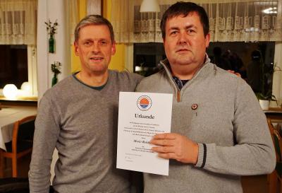 Foto zur Meldung: Ehrennadel für Mario Rehfeldt – Sportverein besteht 40 Jahre