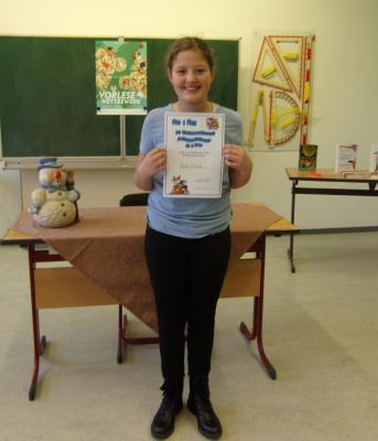 Vorschaubild zur Meldung: Betty Rische - unsere Schulsiegerin