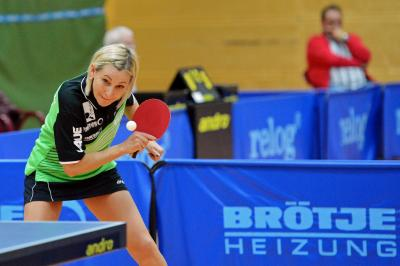 Burgwedels Abwehrspielerin Natalija Klimanova gewann beide Spiele und sicherte so den Punktgewinn zum 5:5 Unentschieden