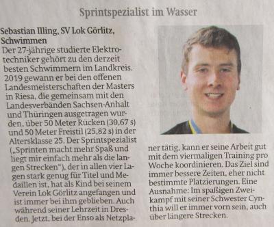 Foto zur Meldung: SV Lok-Schwimmer für die Wahl zum Sportler des Jahres nominiert - jetzt per Online-Voting abstimmen!