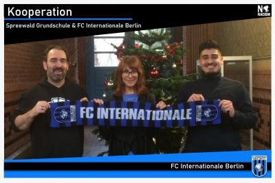 v.l. A. Brand (tjfbg), Nana Salzmann (Schuleiterin), Y. Yilmaz (FC Inter)