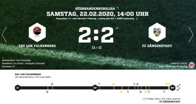 Foto zur Meldung: Fußball: Lok - Elf mit Remis gegen Sängerstadt