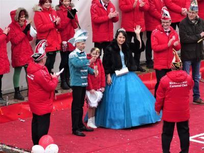Foto zur Meldung: Empfang des Prinzenpaares (Christin I. & Daniel II.) der 62. Carnevalssaison