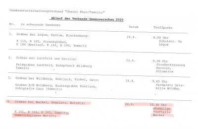"""Foto zur Meldung: Verbands-Gewässerschau des Wasser- und Bodenverbandes """"Oberer Rhin/Temnitz"""""""