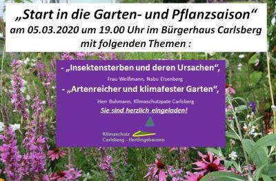 """Vorschaubild zur Meldung: """"Start in die Carlsberger Garten- und Pflanzsaison"""""""