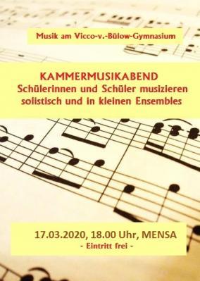 Vorschaubild zur Meldung: Kammermusikabend am  17.03.2020 um 18Uhr (Mensa)