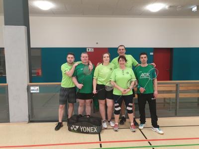 Mannschaftsbild TSV Bassen Badminton