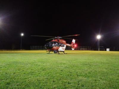 Ausleuchten Hubschrauberlandung