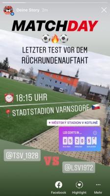 Testspiel Männer - TSV Großschönau 5:2 (in Warnsdorf, Böhmen [Varnsdorf, CZ])