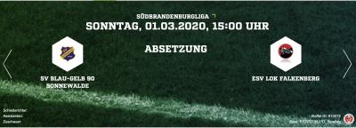 Foto zur Meldung: Fußball: Spielabsage Sonnewalde - ESV Lok