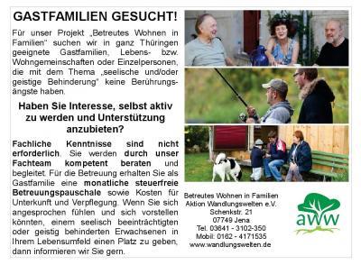 Vorschaubild zur Meldung: Gastfamilien gesucht!