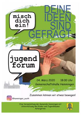 Plakat Jugendforum Hemmingen