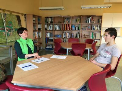 Foto zur Meldung: Der Bewerbertag an der Oberschule Glöwen – einzigartig in der Region